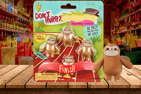 Don't Hurry, Be Happy  Squishy Sloths Be Fast or Be last Toy Smith
