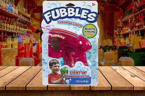 Fubbles Light Up Bubble Blaster & Bubble Solution (Pink)