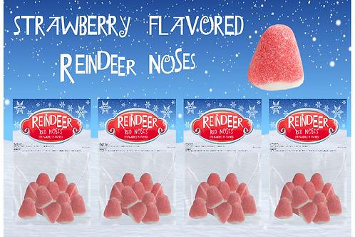 Strawberry Reindeer Noses (4 Packs)