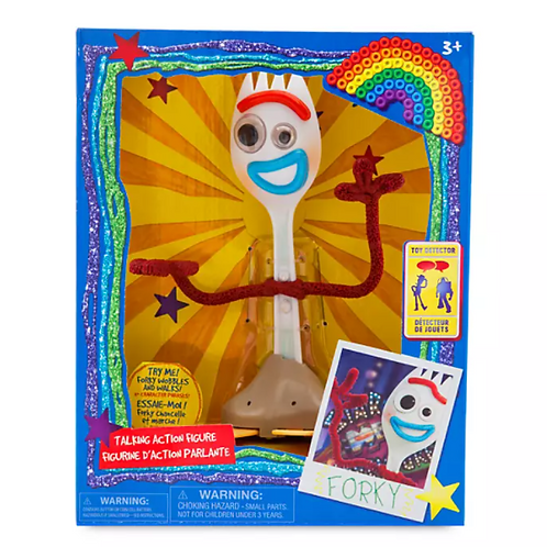 Disney's Forky Interactive Talking Action Figure – Toy Story 4 – 7 1/4''