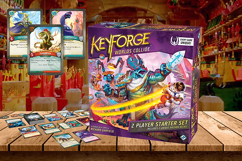 FFG Keyforge: Worlds Collide Unique Deck Game Two-Player Starter Set