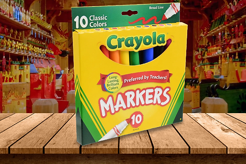 Crayola 10 Broad Line Markers (Classic Colors)