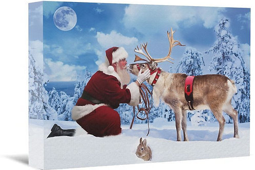 """LIMITED EDITION & SIGNED - """"Best Friends"""" Canvas Print - Designed by Santa"""