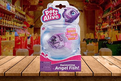 Zuru Pets Alive - Purple Angel Fish - Swims in Water