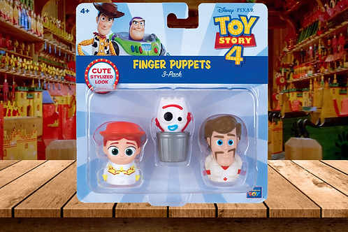 Toy Story 4 - Finger Puppets 3-Pack with Jessie, Forkey, Duke Caboom