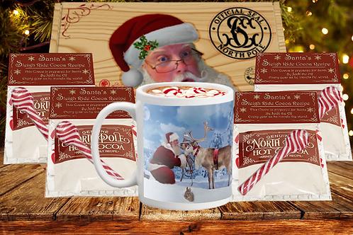 Designer Mug, Santa's Hot Cocoa & Hand-Designed Box