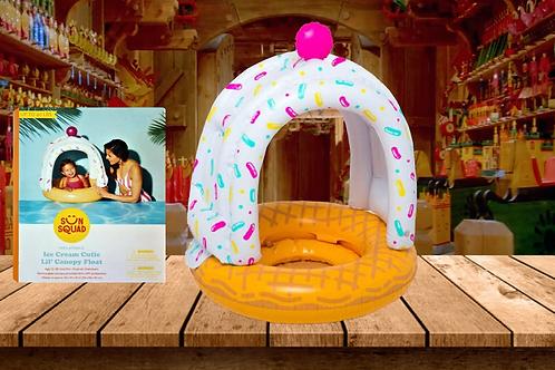 Sun Squad Ice Cream Cutie Lil' Canopy Baby Pool Float