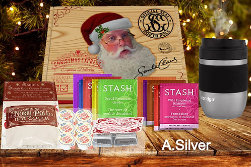 Santa's Tea Stash Delivery - You Pick the Insulated Mug!