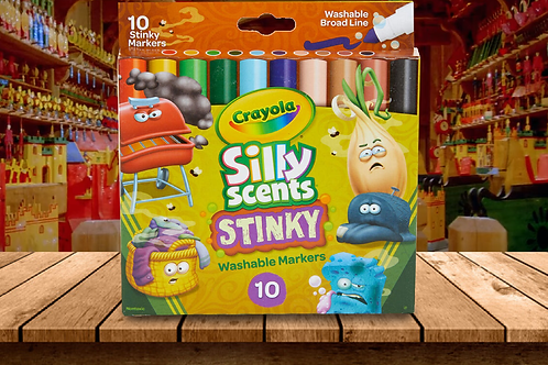 Crayola 10 Silly Scents - Stinky Markers