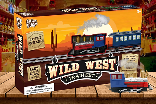Western Wild West -9 Pc. Train Set