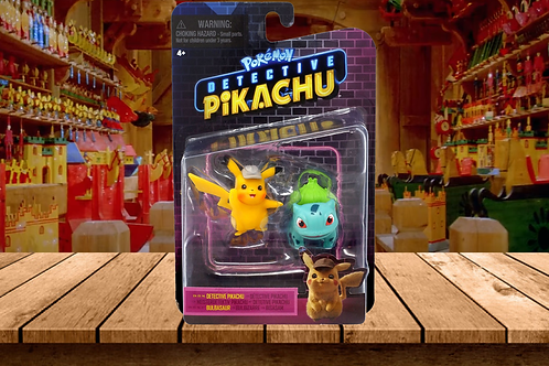 Pokémon Detective Pikachu and Bulbasaur Figure 2-Pack