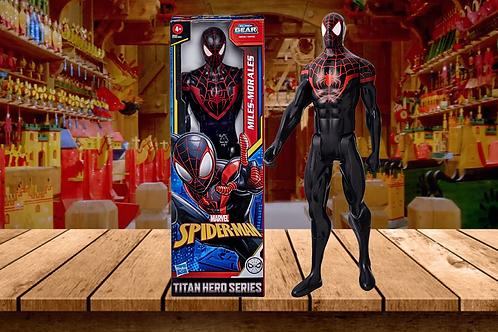 "Spider-Man Marvel Titan Hero Mile Morales 12""-Scale Super Hero Action Figure"
