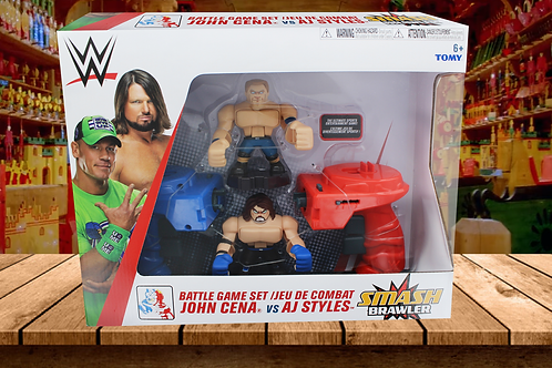 WWE Action Figures Battle Game with Handheld Controllers, Smash Brawlers