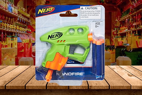 Nerf Nano Fire by Hasbro (Blue or Green)