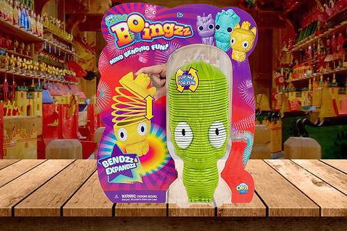 ORB Odditeez Green Alien Boingzz - Cute Spingy Toy