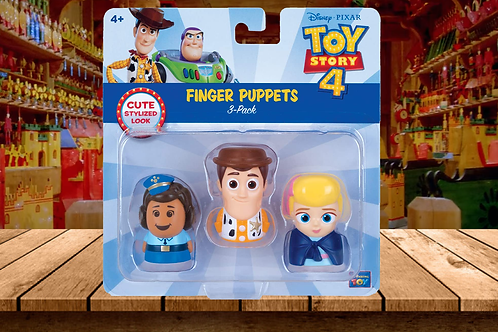 Toy Story 4 - Finger Puppets 3-Pack with Woody, Bo Peep and Giggle McDimples