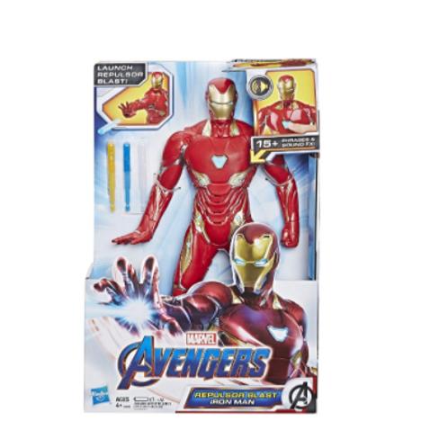 """Marvel Avengers Endgame Repulsor Blast Iron Man 13"""" Action Figure"""