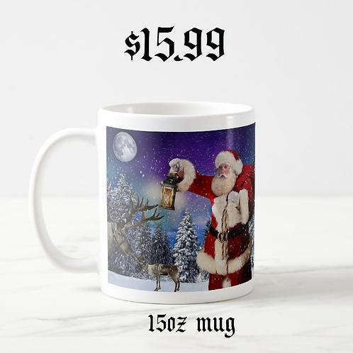 """Preparing for Flight"" 15 oz. Mug - Designed by Santa"