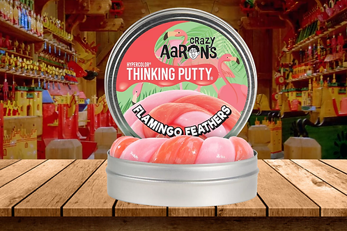 Crazy Aaron's Thinking Putty - Flamingo Feathers - Glow in the Dark