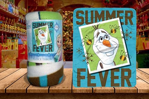 "Disney Frozen Olaf ""Summer Fever"" Fleece Blanket"