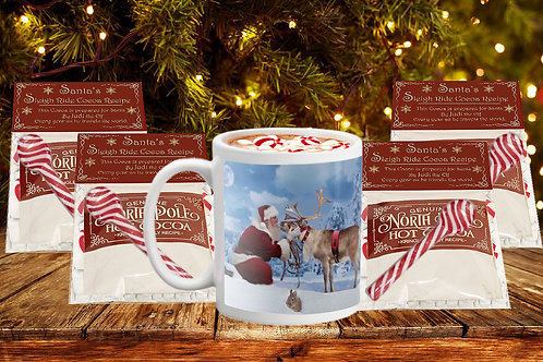 Designer Mug and Santa's Hot Cocoa Set - Your Choice of Mugs