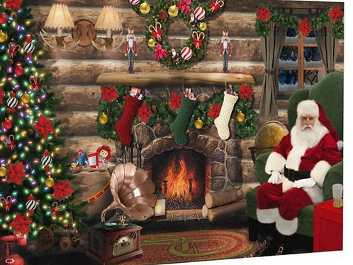 """LIMITED EDITION & SIGNED - """"Music Time for Santa"""" Canvas Print Designed by Santa"""