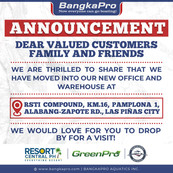 We have to moved to a new location in Las Pinas!