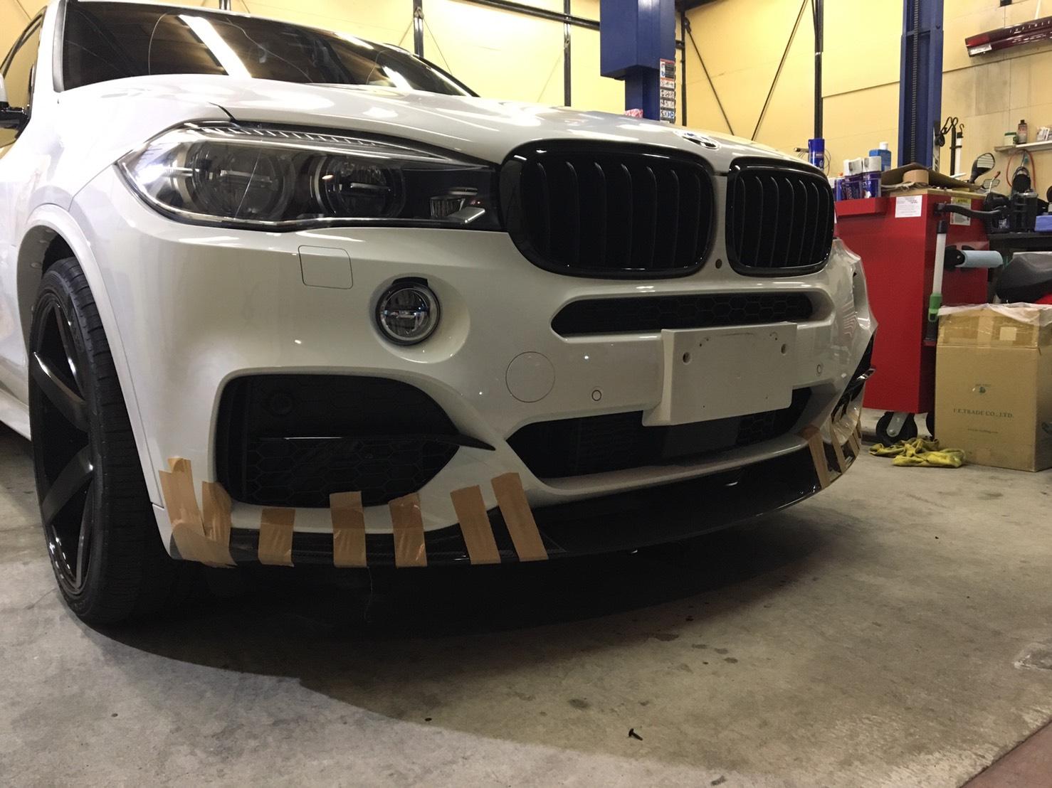 BMW F15 Fスポイラー取り付け
