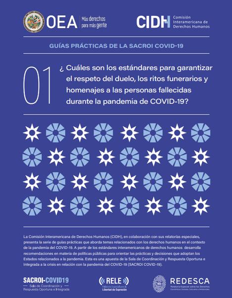 """Guía Práctica """"Estándares para garantizar el respeto del duelo, ritos funerarios y homenajes"""""""