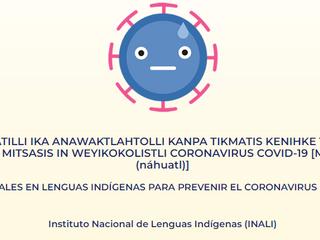 Materiales en lenguas indígenas para prevenir el coronavirus covid-19