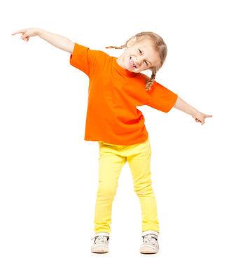 girl in orange shirt