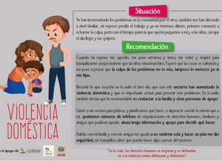 Recomendaciones psicosociales para enfrentar casos de violencia doméstica, preocupación, desesperanz