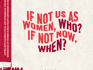 """Aluna's research: """"If not us as women, who? If not now, when?"""""""
