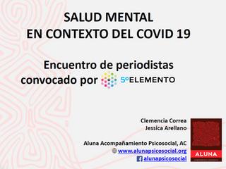 Salud mental en contexto de covid-19: Encuentro de periodistas