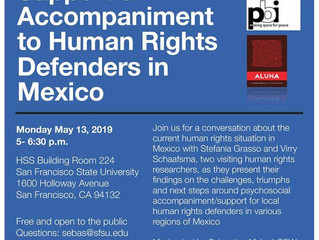 Providing Psychosocial Support & Accompaniment for Human Rights Defenders in Mexico