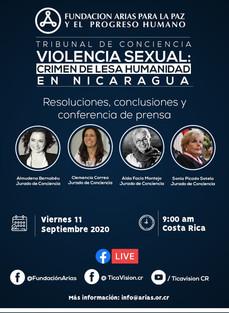 "Sentencia del Tribunal de Conciencia para Nicaragua: ""Violencia sexual: crimen de lesa humanida"