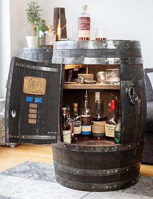 Large whisky Bar-rel drinks cabinet