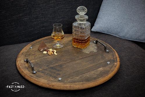 Whisky Barrel cask end tray
