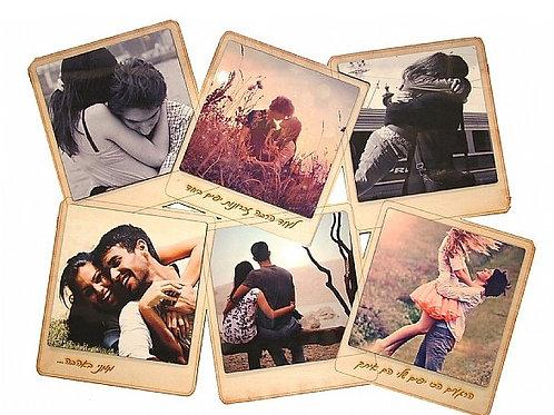 פלטת עץ עם 6 תמונות