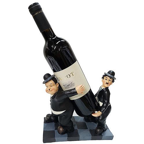 """""""השמן והרזה"""" מעמד יין לבקבוק יחיד"""