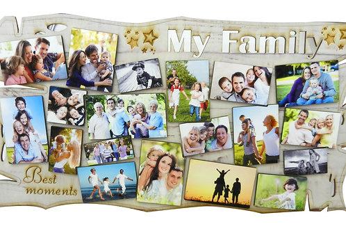 MY FAMILY פלטה עם תמונות