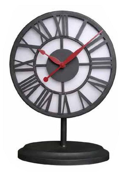 שעון שולחני מתכתי תאורת לד