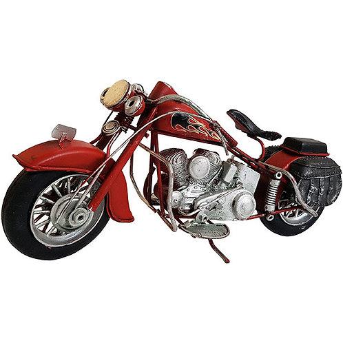 אופנוע רטרו אדום