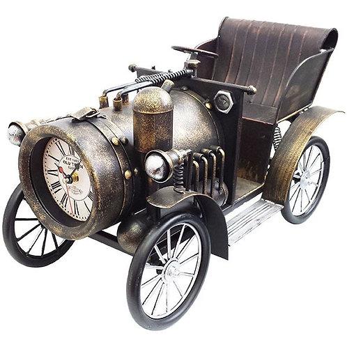 שעון מתכת שולחני מכונית קיטור