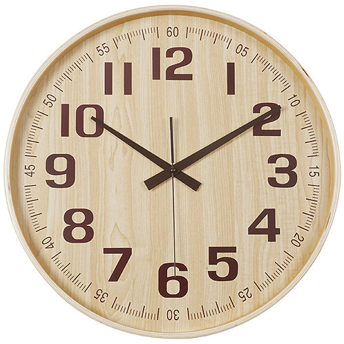 """""""במבוק"""" שעון קיר עץ טבעי"""