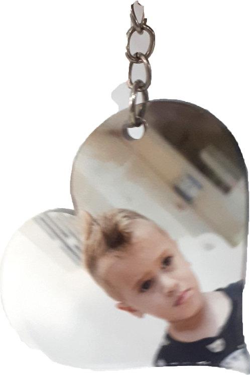 מחזיק מפתחות פרספקס לב רגיל