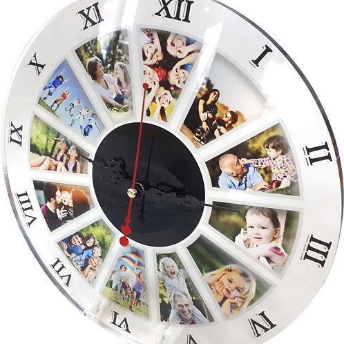 שעון קיר פרספקס