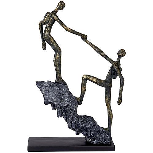"""פסל אומנותי """"עזרה הדדית"""" מבית פסלי היוקרה """"GRACIA GALLERY"""""""