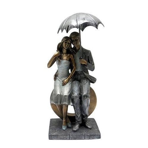 פסל זוגות ספסל לב