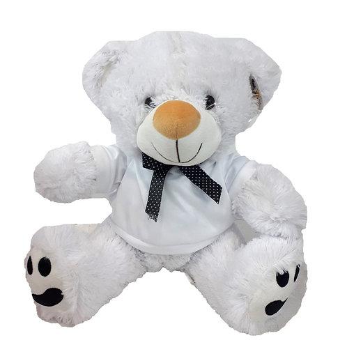 """דובי לבן עם פפיון 40 ס""""מ"""